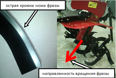 нож фрезы культиватора