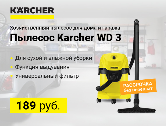 Летняя цена на Karcher WD 3